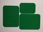 Lego Duplo Green Base Plates 12 X 8 And 12 X 16 Pieces