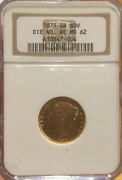 Sovereign 1871 Die Nomber Ngc Ms62 Unc Great Britain