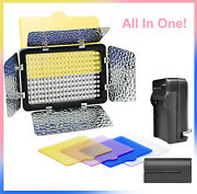 Dimmable Led Barn Door Flood Light Kit With Battery Charger 4-colored Filters