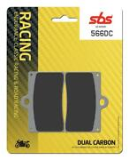 Sbs Full Front Set Dual Carbon Brake Pads 566dc Ducati 888 Roche Replica 1991-on