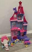 Fisher Price Little People Magical Wand Castle Palace Carriage Bed Princess Lot