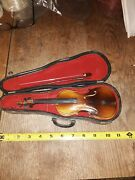 Miniature Violin Authentic In Case/bow...circa 1960s. Very Kool Collectible