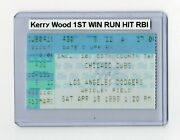 Kerry Wood Home Debut 1st Win Hit Run Rbi Cubs Dodgers 4/18/1998 Ticket Stub