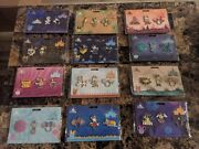 Complete Minnie Mouse Main Attraction Pin Set 1-12 With Pin Book And Starter Pin