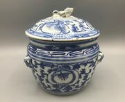 19th Century Straits Chinese Porcelain Blue And White Kamcheng