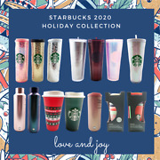 Starbucks 2020 Holiday Collect Tumbler Cold Hot Pink Purple Grid Disco Limited