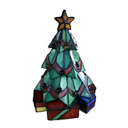 Stained Glass Christmas Tree Table Lamp Lighting Home Decoration Gift