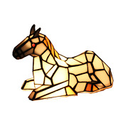 Stained Glass Horse Pony Table Lamp Night Lighting Home Decoration Gift