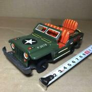 Mp Jeep Tin Plate Made In Japan Friction Miniature Car