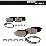 Front+rear Ceramic Brakes For 2010 2011 2012 Land Rover Range Rover Supercharged