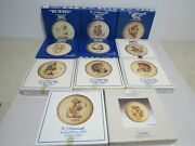 Lot Of 11 M J Hummel Annual Collector Plate In Bas-relief 1974-1982 And 1984 1985