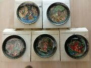 5 Vintage Bradford Exchange Collector Plates - Russian Legends And Tsar Saltan