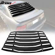 Fits 99-04 Ford Mustang Ikon Style Gloss Black Rear Window Louver Shade Cover