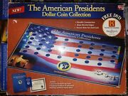 American President Dollar Coin Collection Display Set + Free State Quarter Board