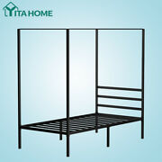 Yitahome Twin Metal Canopy Bed Frame With Headboard Platform No Box Spring 14