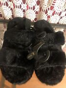 Charles Albert Slippers Black Color Size L 9-10 Indoor/outdoor Sole Cousin
