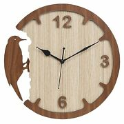 Clock Wall Decor Wood Home Large Decorative Rustic Vintage For Thanksgiving Day