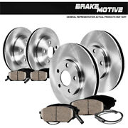 Front+rear Solid Disc Brake Rotors And Ceramic Pads For Mercedes Benz E550