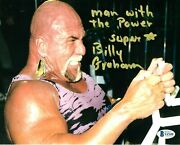 Wwe Billy Graham Hand Signed Autographed 8x10 Photo With Beckett Coa Rare 11