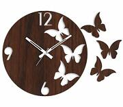 Clock Wall Butterfly Wooden Gift Home Decor Wood Unique For Thanksgiving Day