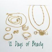 Christmas Advent Calendar For Her 12 Days Of Beauty Jewelry Set Rings Studs