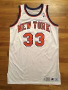 1992-93 New York Knicks Patrick Ewing Pro Cut Home Jersey 48 + 6 Worn Used Game