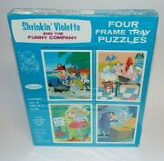 Vintage Unused Shrinkin Violette 4 Terrytoons Frame Tray Puzzles By Whitman 1969