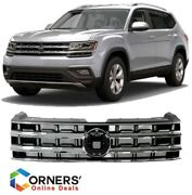 Fits For Vw Atlas Front 2018 / 2019 Bumper Grill Chrome Satin Assembly Grille