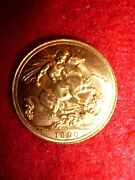 1890 Gold Sovereign - Victoria Jubilee Head - London Mint Coin, Queen Victoria