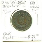 1864 - Canada / New Brunswick - Large-1 - One Cent - Nice Coin