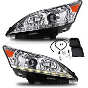 Customized Chrome Led Headlights With Drl Dual Beam For 2010-2012 Lexus Es350