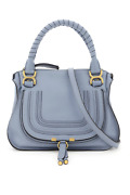 New Marcie Leather Bag Chc10ws860161 Ash Blue Authentic Nwt