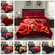 Christmas Thick Blanket King Heavy 2 Ply Reversible Silky Mink Bedspread