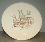 New Dinner Plate Shrimp , Hand Painted Grands Crustaces Pattern From Gien