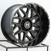 Hostile H108 Sprocket 20x12 5x5.5/5x139.7 -44 Full Black Wheels4 87 20 Inch R