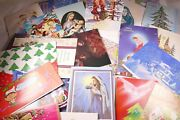 Vintage Lot Of 85 New And Used Christmas Cards Card Making Craft Scrapbooking
