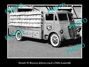 Old Postcard Size Photo Of Oertels 92 Brewery Delivery Truck Louisville C1940s