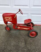 Vintage Bmc Pedal Car Tractor Senior Heavy Duty With Trailers And Plow