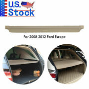 Cargo Cover Security Rear Trunk Beige Privacy Shade For 2008-2012 Ford Escape