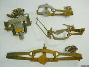 4 Vintage Animal Traps - Newhouse Oneida Double Spring Montgomery Coil Spring