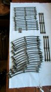 Vtg Lionel O Gauge Tubular Straight And Curved Track Pieces Lot Of 15 Ctc Lockon