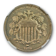 1878 5c Proof Shield Nickel Ngc Pf 65 Cac Approved Key Date Lightly Toned Nic...