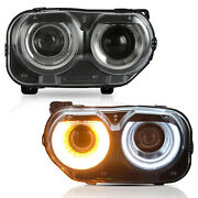 Free Shipping To Pr For 2015-2020 Dodge Challenger Rgb Led Headlights W/drl