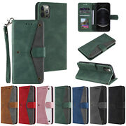 10pcs/lot Stitching Skin Credit Card Pu Leather Case For Iphone 12 Samsung S20fe