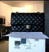 New With Tag Classic Medium Double Flap Bag In Lambskin W/ Gold Hardware