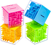 4 Pack Money Maze Box Holder Puzzle And Brain Teasers For Kids And Adults