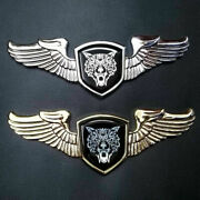 8.66 3d Alloy Chrome Hood Trunk Coyote Wolf Wing Badge Emblem Fit F-150 Mustang