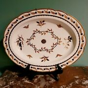 1st. Period Dr. Wall Worcester Crescent Marked Oval Platter