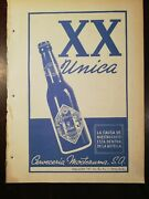 Antique Dos Equis Xx Beer Moctezuma Brewery Magazine Adv From 40and039s Htf
