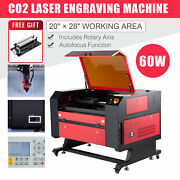 Co2 Laser Engraver Cutter 60w 28x20 Inch Ruida With Rotary Axis Autofocus
